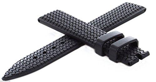 Chopard Damen schwarz Gummi Silikon Uhrenarmband 16mm