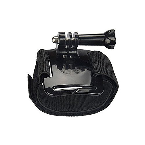J Functional Pro 360 Degree Rotatable Camera Wrist Strap Band Holder Cycling Mount For Gopro Hero 1 2 3 3+ 4 Sprots Camera Sjcam Sj4000 Sj5000 Sj5000 Xiaomi Sports Action camera Black  available at amazon for Rs.390