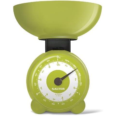 Salter - Bilancia meccanica da cucina Orb, colore: Verde