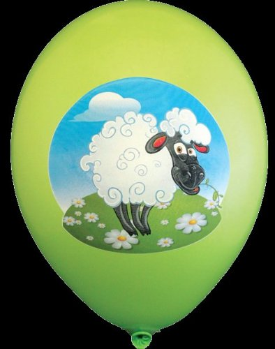 Party Luftballons Katze Hunde Schaf Schildkröte lustige Tiere ca. 30 cm farbig sortiert 8 Stück