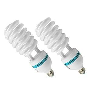 amzdeal® Ampoule 2x135W E27 5500K Photo Eclairage continu Ampoule tubes Studio FLUO neuf
