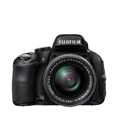 Fujifilm FinePix HS50EXR Digitalkamera (16 Megapixel, 42-fach opt. Zoom, Full-HD, 7,6 cm (3 Zoll) LCD CMOS Sensor, HDMI, bildstabilisiert, USB 2.0) schwarz