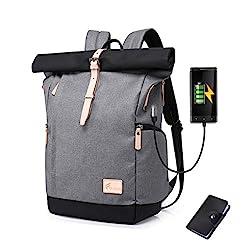 Cornasee Wasserdicht Laptop Rucksack 15,6 Zoll für Männer und Frauen Diebstahlsicherung Tagesrucksack Schulrucksack College-Rucksack,große Kapazität 30L (Grau