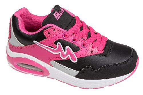 Unbekannt, Sneaker donna Nero (Nero/Rosa)