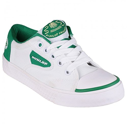 Dunlop - Zapatillas de deporte con suela lisa Modelo Green Flash DU1555 para niños niñas unisex (31 EU/Blanco)