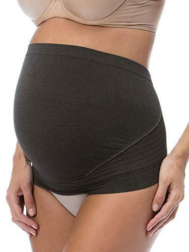 Relaxmaternity 5400 (nero, xl) fascia premaman fibra d'argento sostegno addome gravidanza