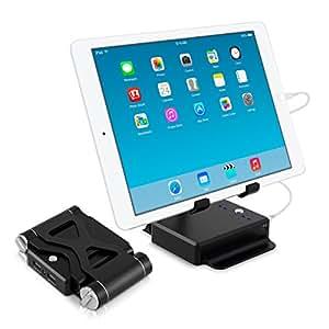 kwmobile 10400mAh Powerbank con supporto tablet, batteria di ricambio esterna USB, con rivestimento in metallo, caricabatteria mobile per Samsung Galaxy Tab S 10.5, Tab 4 10.1, Note 10.1, Tab Pro 12.2, nota Pro 12.2 Apple iPad Air 2 Mini iPad 3
