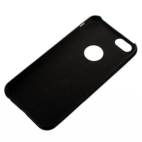Phone case & Hülle Für IPhone 6 Plus / 6S Plus, Thin Plastic Coating Leder Schutzhülle ( Color : Gold ) Black