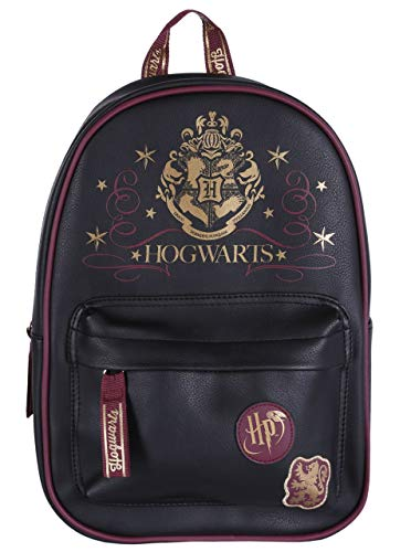 Mochila negro y burdeos HARRY POTTER