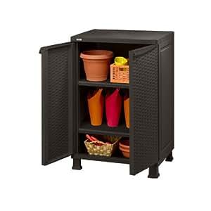 keter 17189529 schrank aus kunststoff rattan 65 x 49 x 99 cm baumarkt. Black Bedroom Furniture Sets. Home Design Ideas