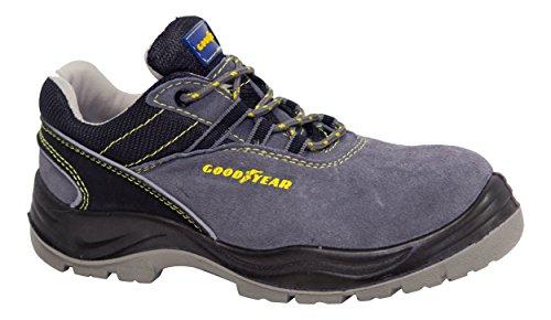 Goodyear Sicherheitsschuhe g138107C (Leder Rindsleder) grau, grau, G138107C