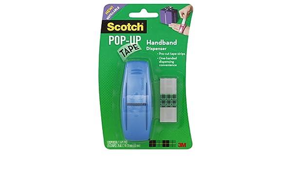 96-g Scotch pop-up tape Handband dispenser 75/strisce per Pad 1,9/x 5,1/cm 1/pad per confezione i colori possono variare
