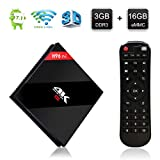 H96 Pro Plus Smart TV Box Android 7.1 3GB DDR3 16GB EMMC Set Top Box Amlogic S912 Octa-Core 64bits con Real 4K Ultra HD 2.4G/5GHz WIFI H.265 Bluetooth 4.1 1000M LAN con Control Remoto