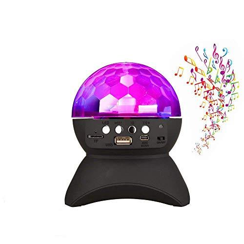 ZLHW Disco-Kugel-Licht mit beweglicher drahtloser Bluetooth-Sprecher-Magie-Stadium LED beleuchtet, drahtloser Sprecher Bluetooths für Partei-Tanz, Ball, Halloween, Geburtstag, Weihnachten