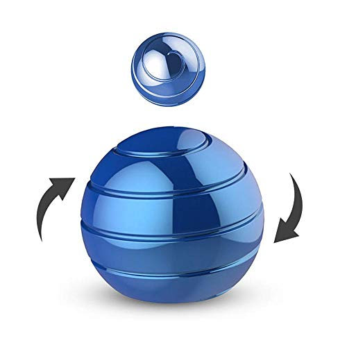 FOONEE Kinetic Schreibtisch Spielzeug Executive Spielzeug für Kinder Erwachsene Büro Stress Relief visuelle Illusion Metall Ball - 45 mm blau -