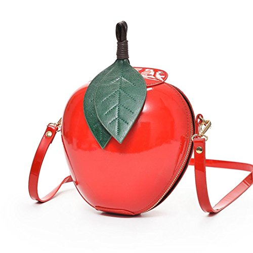 Damen Tasche, Huihong Shopper Tasche Mode Apfel Handtasche ReißVerschluss Tasche Schultertasche Tote Frauen UmhäNgetasche FüR Freundin Geschenk (Rot) (Gesteppte Clutch Wallet)