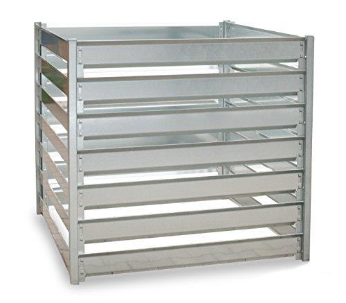 Metall Komposter, 109 x 109 x 100 cm, 1200 L, erweiterbar