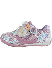 257619b110d Girls Disney Frozen Summer Shoes Trainers with Velcro[8 Infant][Multi]