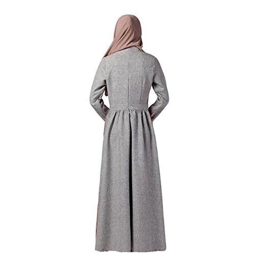 Meijunter Musulman Femme Manche longue Maxi Dress Kaftan Abaya Islam Arab Robe Gown blue