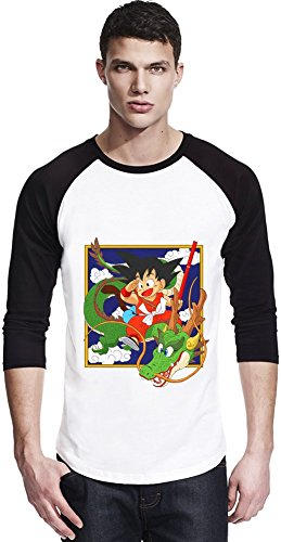 Kid Goku and Dragon Unisexe Baseball Shirt Small