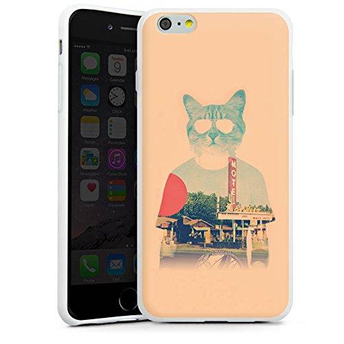 Apple iPhone X Silikon Hülle Case Schutzhülle Katze The Cat Ip Haustier Silikon Case weiß