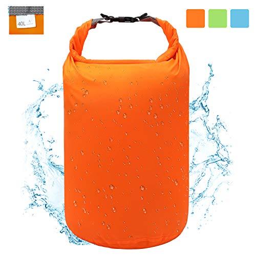 Ultra-Light Dry Bag, Wasserdichte Tasche Trockensack Kompressionssack 2L / 5L / 10L / 20L / 40L / 70L, Abriebfest, Reißfest, Super wasserdicht, für Wassersport, Skifahren, Schlafsack