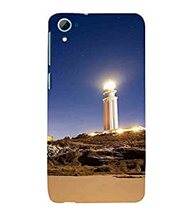 For HTC Desire 826 :: HTC Desire 826 Dual Simlighthouse and starry night before the sunrise, lighthouse, lighthouse in night Designer Printed High Quality Smooth Matte Protective Mobile Case Back Pouch Cover by APEX