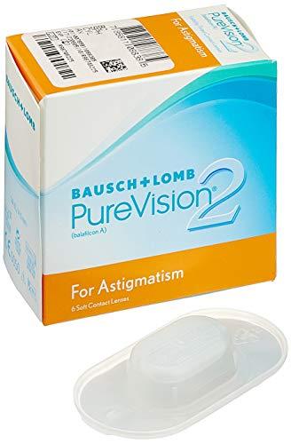 PureVision2 HD for Astigmatism Monatslinsen weich, 6 Stück BC 8.9 mm / DIA 14.5 / CYL -0.75 / Achse 130 / -2.5 Dioptrien