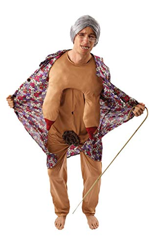 Vagina Kostüm - Orion Oma Exhibitionistin Männerballet Herrenkostüm bunt Einheitsgröße