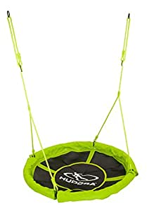 HUDORA Nestschaukel 110 cm, grün - Garten-Schaukel bis 100 kg belastbar - 72156
