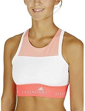 adidas Stella Sport-BH para mujer koral / weiß / rot Talla:L - 42/44