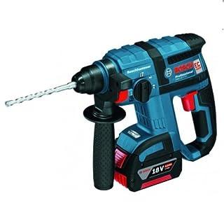 Bosch Professional 061190400F GBH 18 V-EC Schlagbohrhammer, 2 x 5,0 Ah Akku, Schnellladegerät, Tiefenanschlag, L-BOXX, Blau 42922
