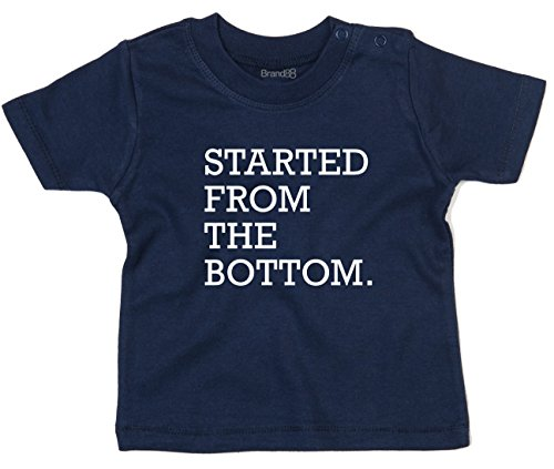 Money-shirt Young (Started From The Bottom, Baby T-Shirt - Marine Blau 18-24 Monat)