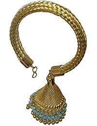 Qtsy Gold Plated Lumba Rakhi For Bhabhi Rakhi Gift For Rakhshabandhan