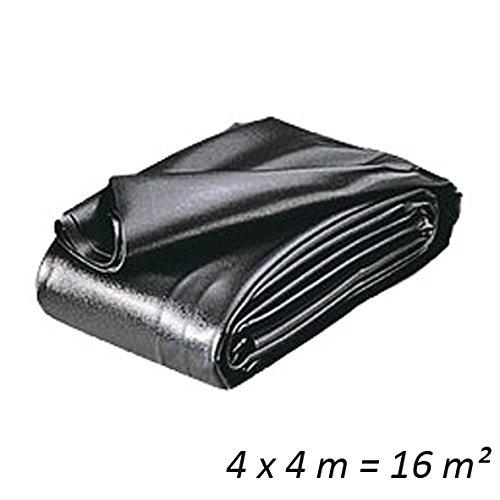 HEISSNER TF173-00 PVC Teichfolie, 0,5 mm, 16 qm, schwarz