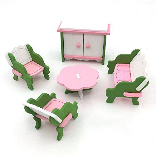 Up Augen Make Kostüm Asiatische (Zantec Kreative hölzerne Simulation Möbel 3D Montage Puzzle Set Gebäude Bau Blöcke Puzzle)