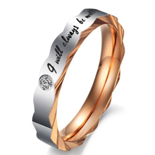 AVN Jewellers 18CT PLATINUM AND RODIUM PLATED REAL LOVE RING FOR VALENTINE DAY SPECIAL OFFER