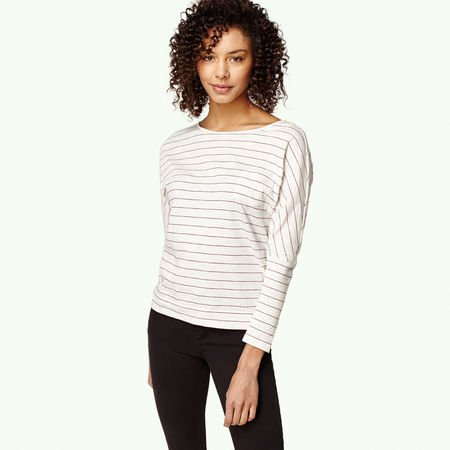 O'Neill Jacks Base Striped Blouse à manches longues White Aop with Rot