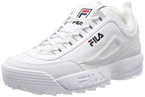Fila Disruptor Low 1010262-1fg, Sneakers Basses Homme, Blanc (White 1fg), 44 EU