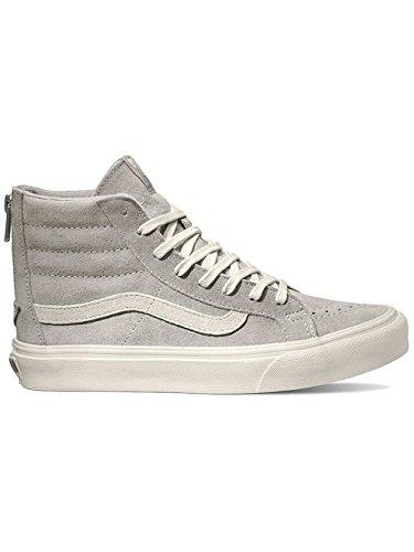 Vans U SK8-HI SLIM ZIP PERF LEATHER, Sneakers Basses mixte adulte (scotchgard) cool grey/blanc de blanc