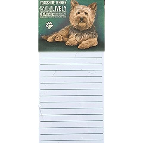 Yorkshire Terrier cane Yorkie magnetica Note Memo Pad–Vivace (Yorkshire Terrier Coaster)