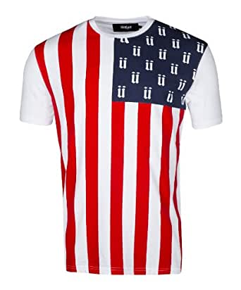 Unkut - Tee Shirt Imprimé Drapeau Usa Blanc USA