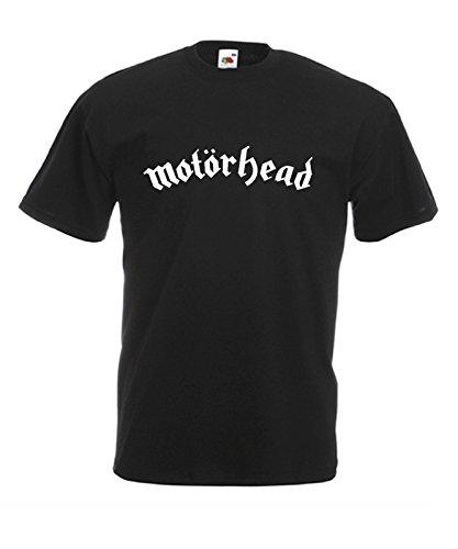 Camiseta Hombre Motorhead camiseta hard rock 100% algodon LaMAGLIERIA,L , Negro