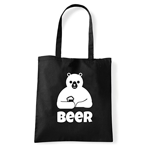 Art T-shirt, Borsa Shoulder Beer, Shopper, Mare Nero