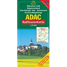 München Süd, Alpenvorland, Starnberger See, Ammersee, Karwendelgebirge: 1:75000