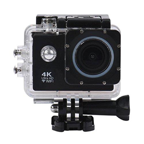 OverDose 2-Zoll 4K WIFI Wasserdichtes Gehäuse Mini Action Cam HD DV Sport Recorder Kamera (Schwarz)