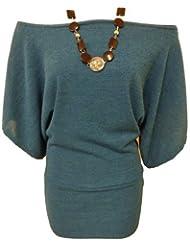 Mix lot dames 3/4 manches tricoté cavalier robe top femmes collier chauve-souris de haut en reste bien la taille de chandail 36-46
