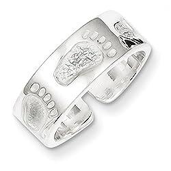 Sterling Silver Feet Toe Ring
