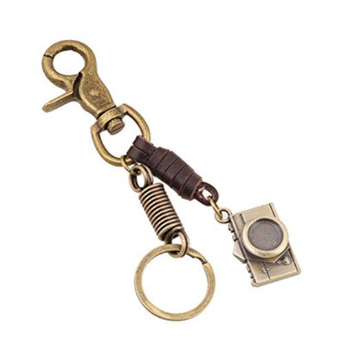 Preisvergleich Produktbild Rapidly Niedlich Pflaumen Fawn Retro Schlüsselanhänger Damen Rucksack Kamera Anhänger Kleines Geschenk