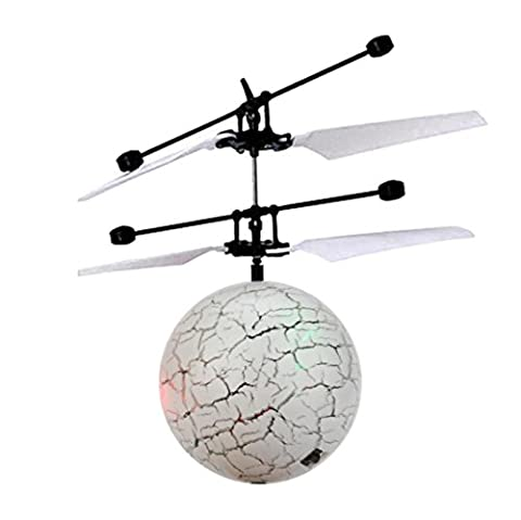 Flash Flying Ball Infrared Induction Colorful 7 LED Disco RC Helicopter Kids Toy Gift (18.2*6.5*17.6cm, multicoloured)